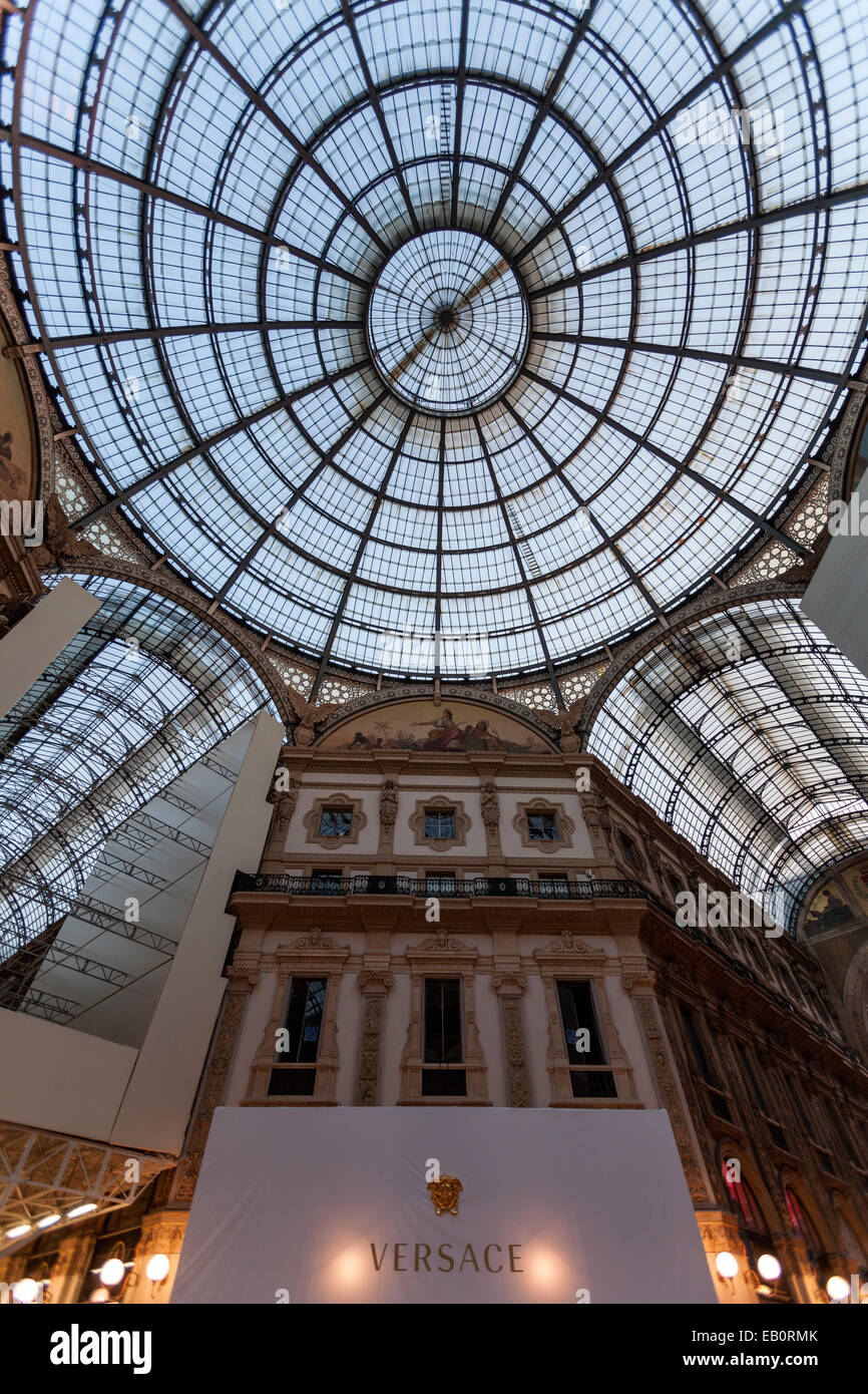 Galleria Vittorio Emanuele II it is one of the world's oldest shopping malls. The structure consists of two - Stock Image