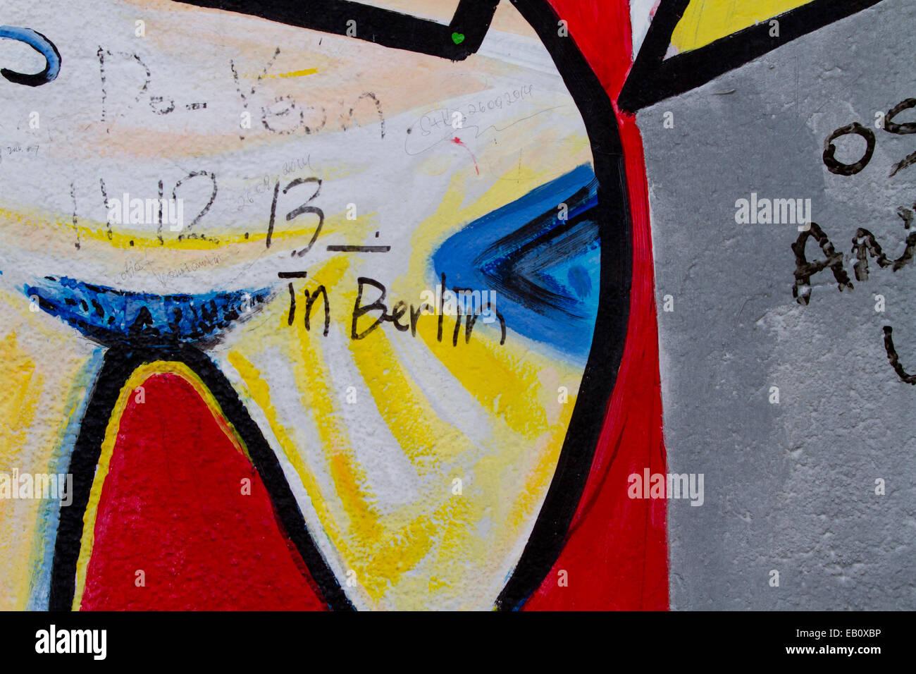 Berlin Wall Cartoon Graffiti street art Berlin Tag Stock Photo ...