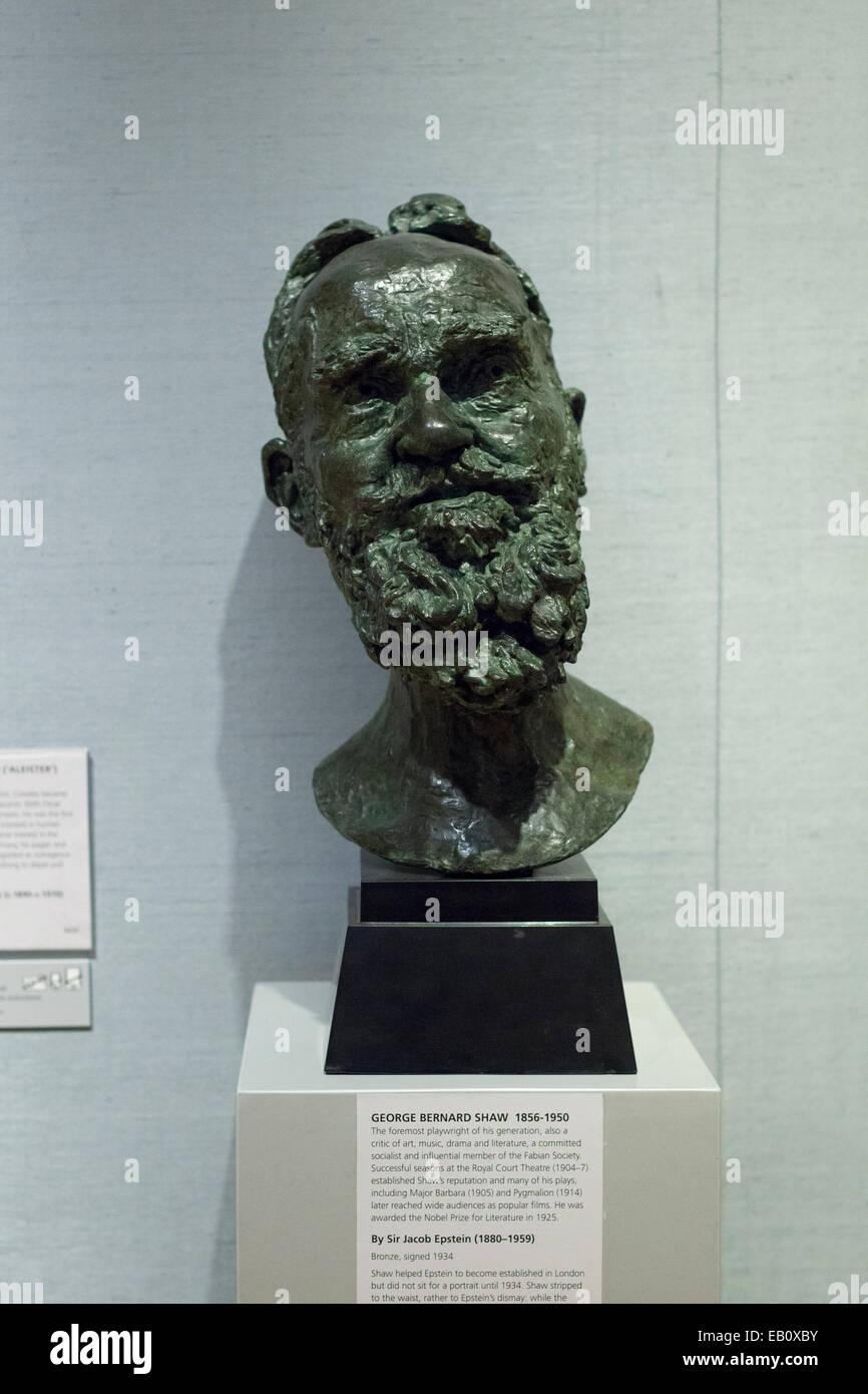 George Bernard Shaw by sir Jacob Epstein - Stock Image