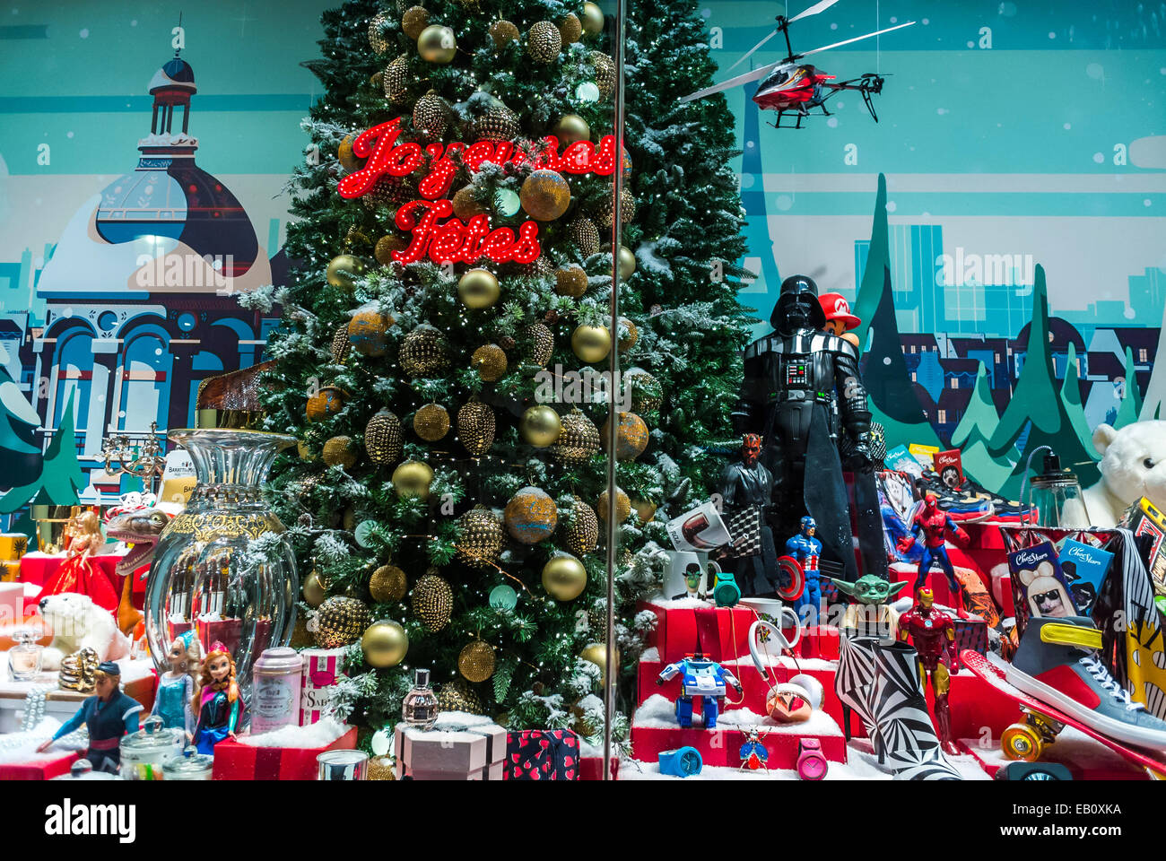 Paris, France, WIndow Display at French Department Store, Le Stock ...