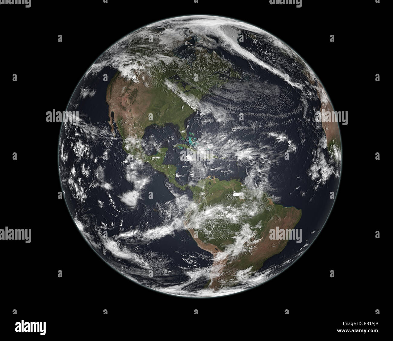 Earth viewed from space - Stock Image