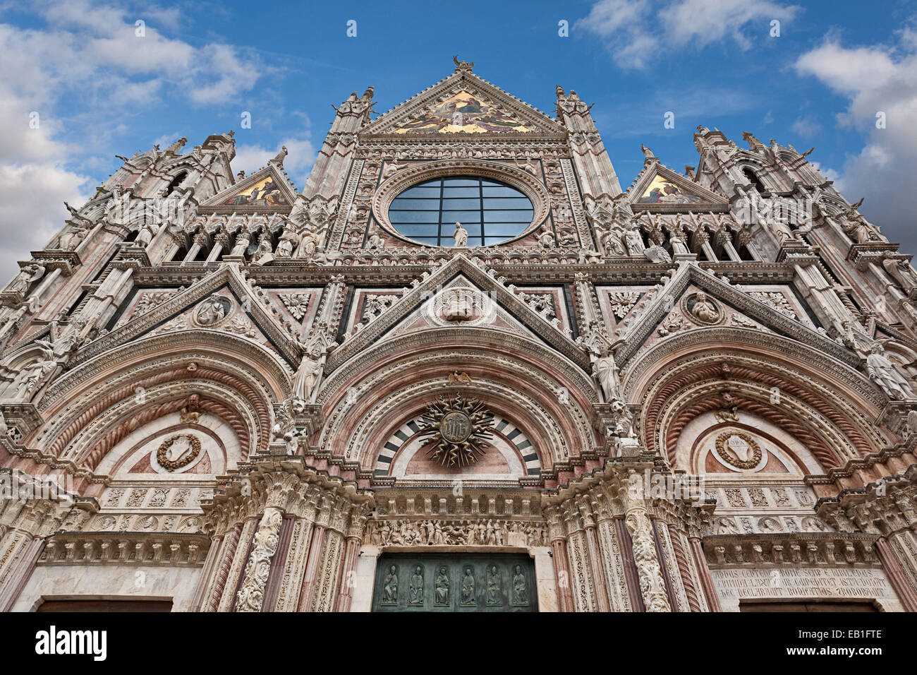Main facade of Siena Cathedral in Tuscany, Italy. - Stock Image
