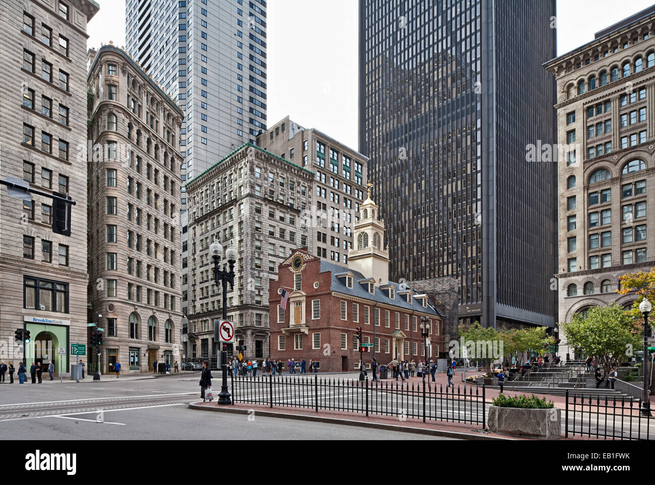 Old State House, Boston, the oldest surviving public building in Boston, Massachusetts. - Stock Image
