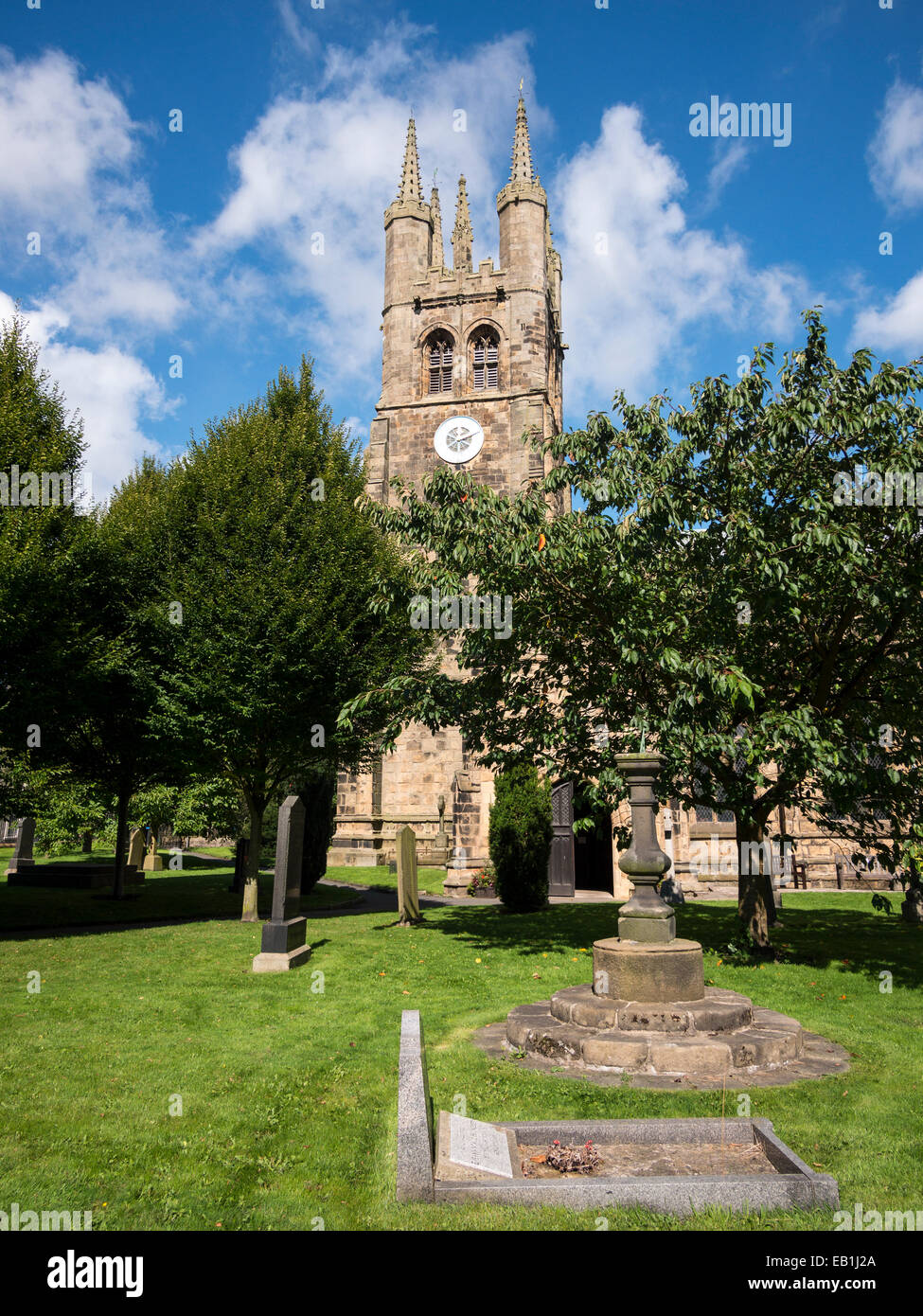 St John the Baptist Church at Tideswell,peak district,derbyshire - Stock Image
