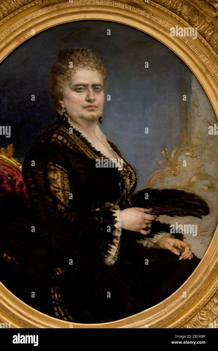 Portrait of a Lady by Vicente Palmaroli 1834-1896 Spain Spanish - Stock Image