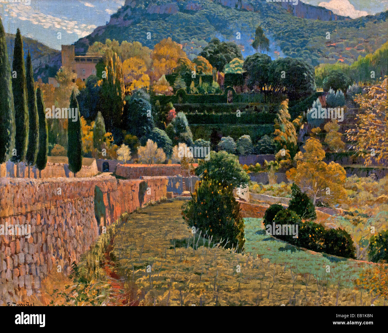 Mountain Garden ( SA Coma IV ) 1904 Santiago Rusinol 1861-1931 Spain Spanish - Stock Image