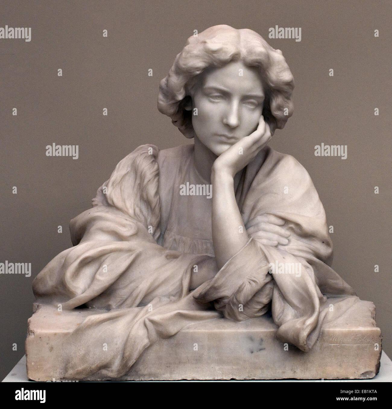 Sensitive by Miguel Blay Y Fabregas 1866-1936 Spain Spanish - Stock Image