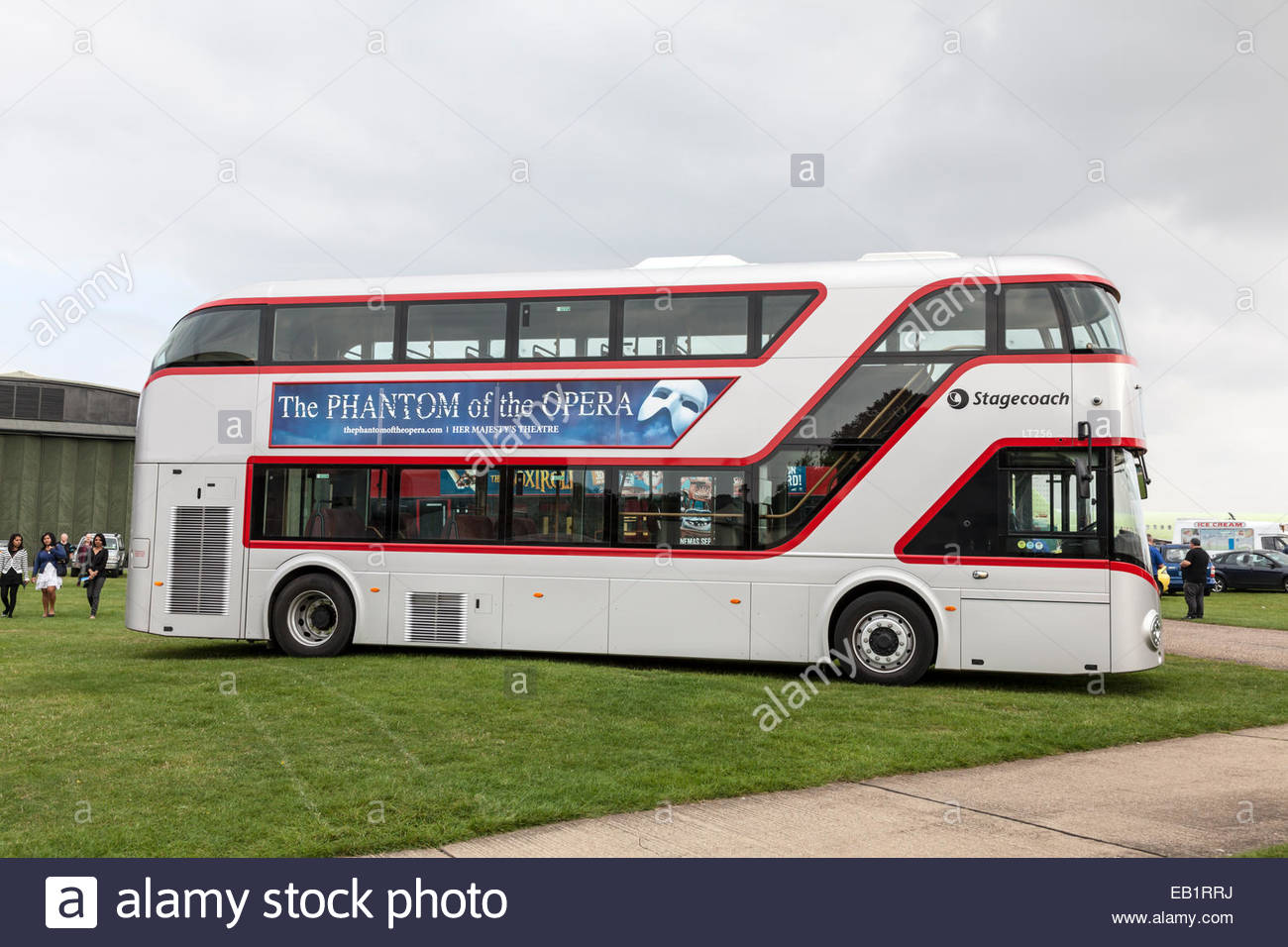 New London Routemaster Bus on show at a bus rally - Stock Image