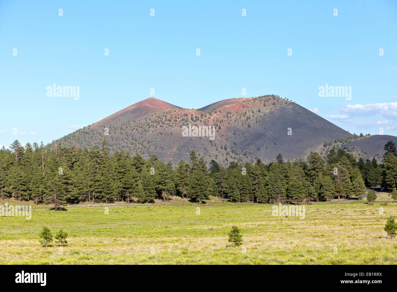 A view of Sunset Crater Volcano National Monument, Arizona. - Stock Image