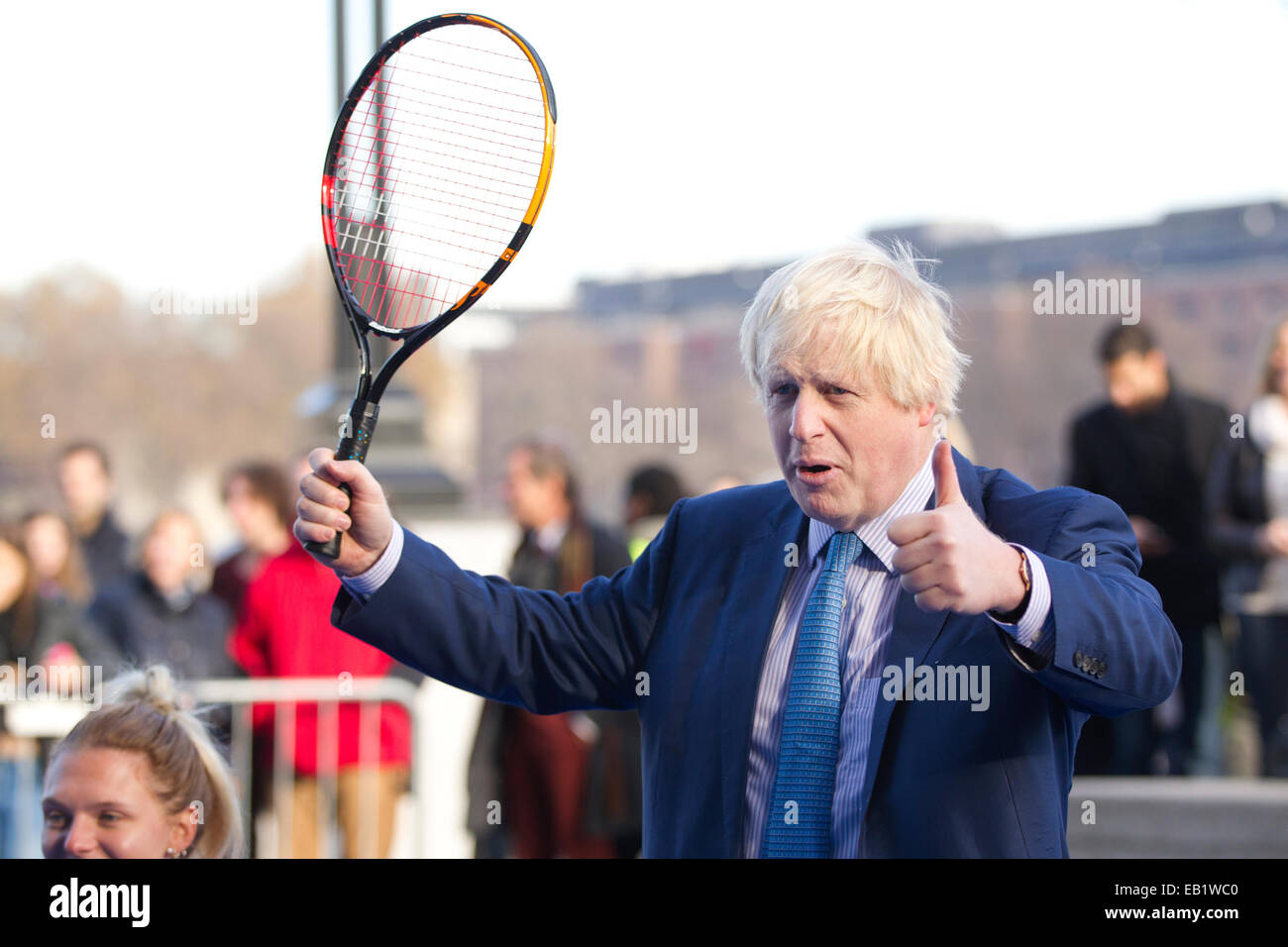 London, UK. 24th November, 2014. Mayor of London Boris Johnson to join some of world's best wheelchair tennis players Stock Photo