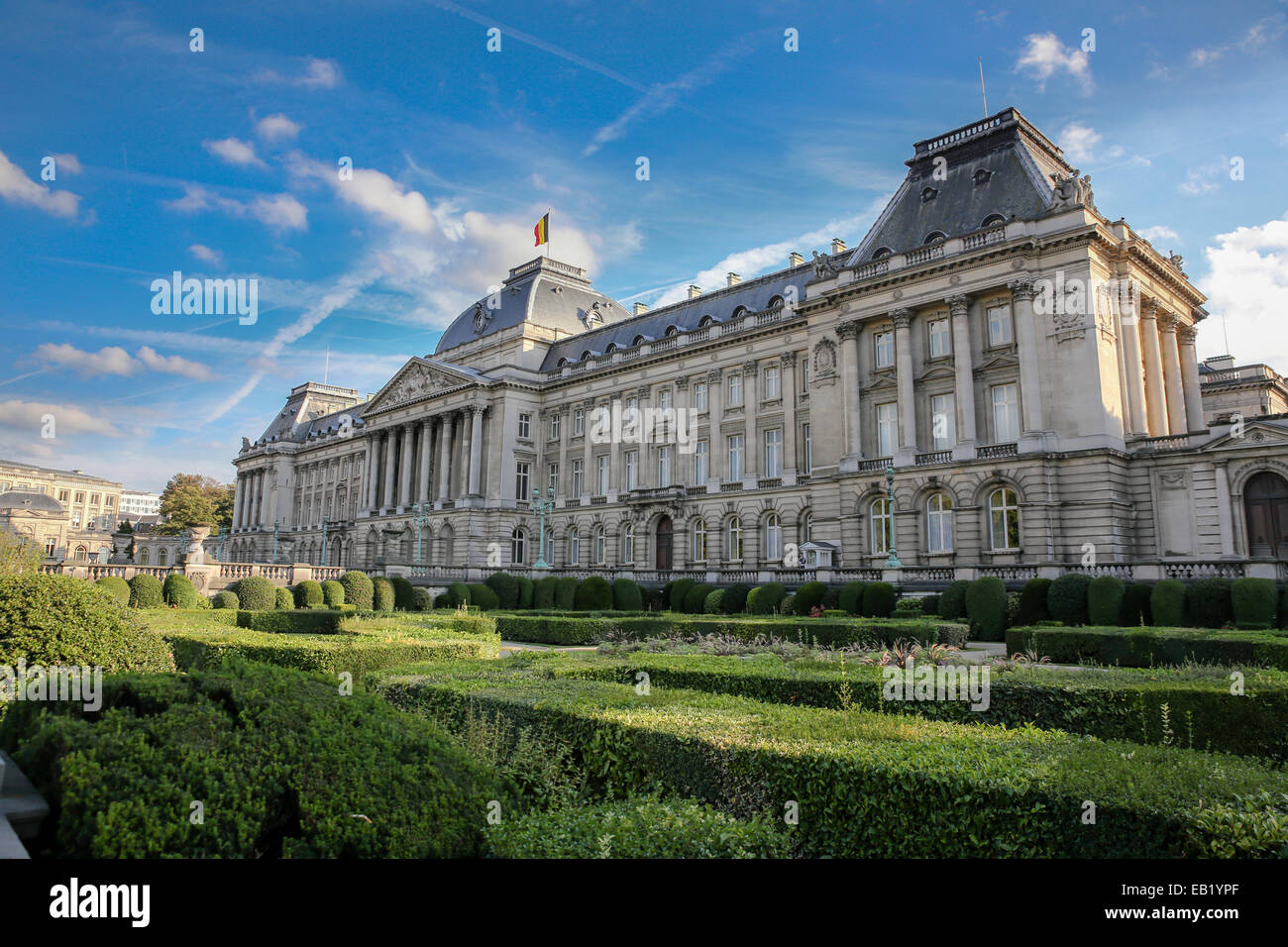 Royal Palace of Brussels exterior Stock Photo