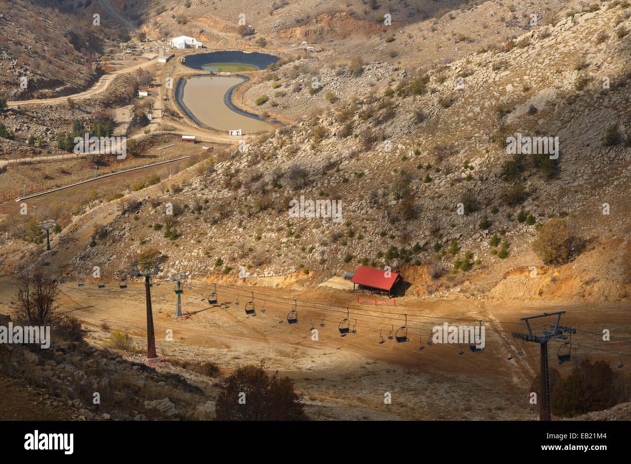 Ski station. Mt Hermon. Golan Heights. Israel. Syria. Asia - Stock Image