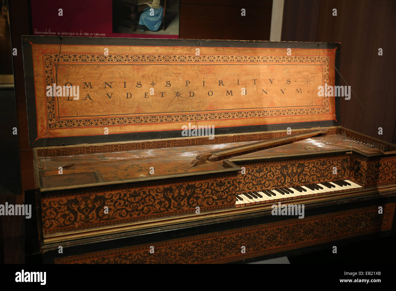 muselaar rectangular virginal piano - Stock Image