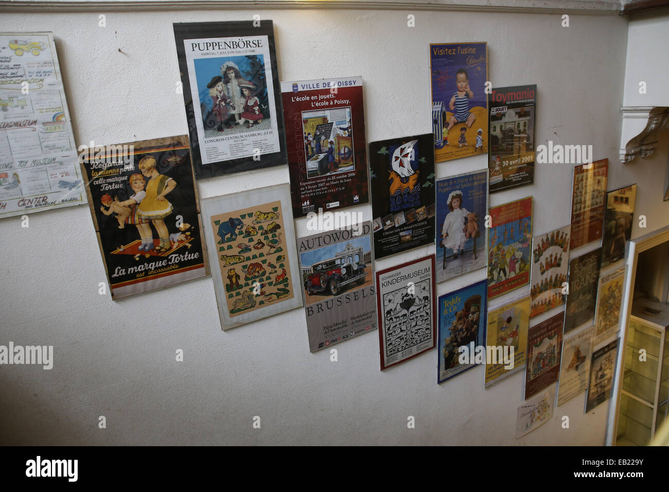 vintage toy poster advertisements europe - Stock Image