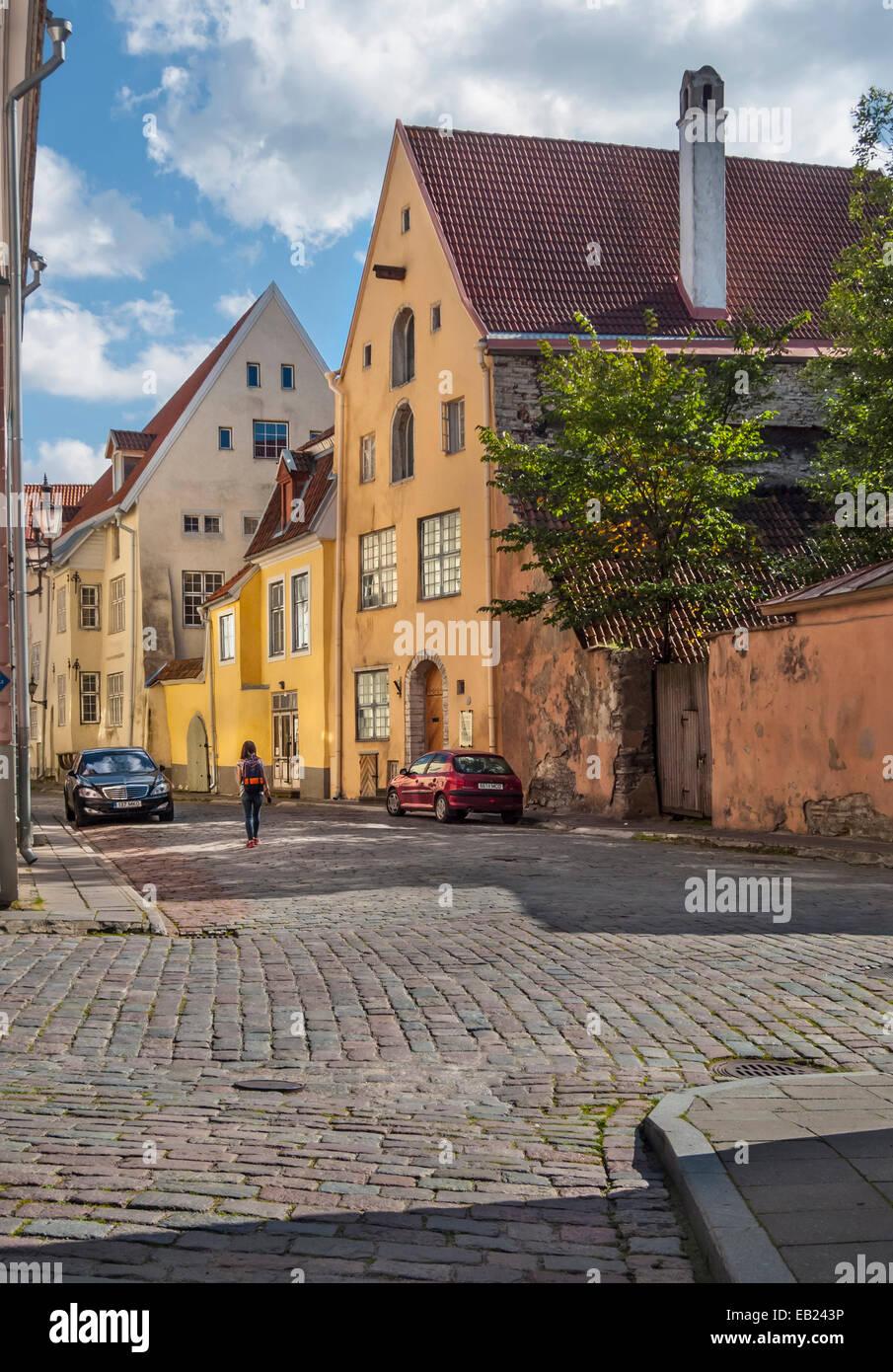 Tallinn old town.Tolli Street - Stock Image
