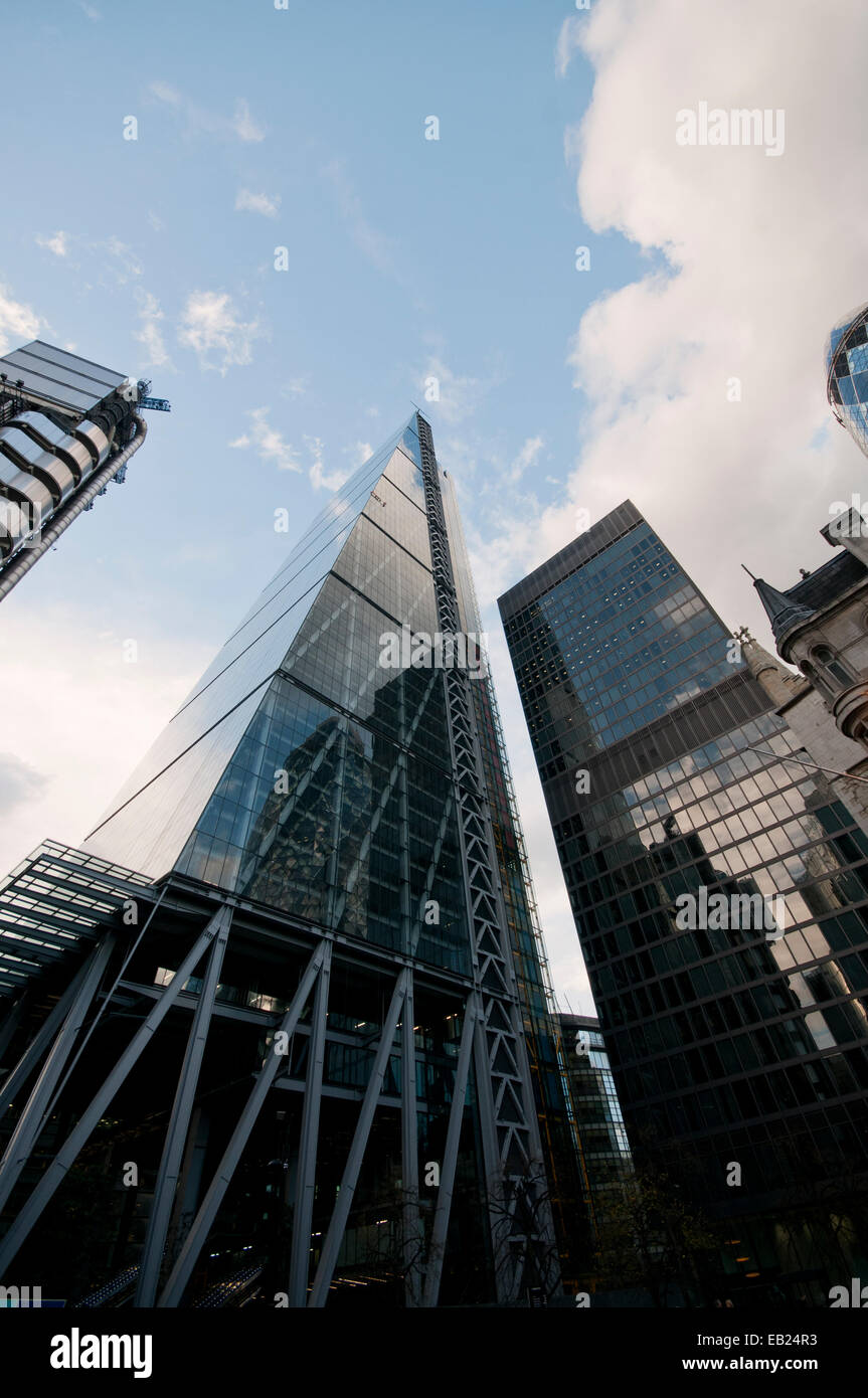 122 Leadenhall Street City of London nicknamed The Cheesegrater - Stock Image