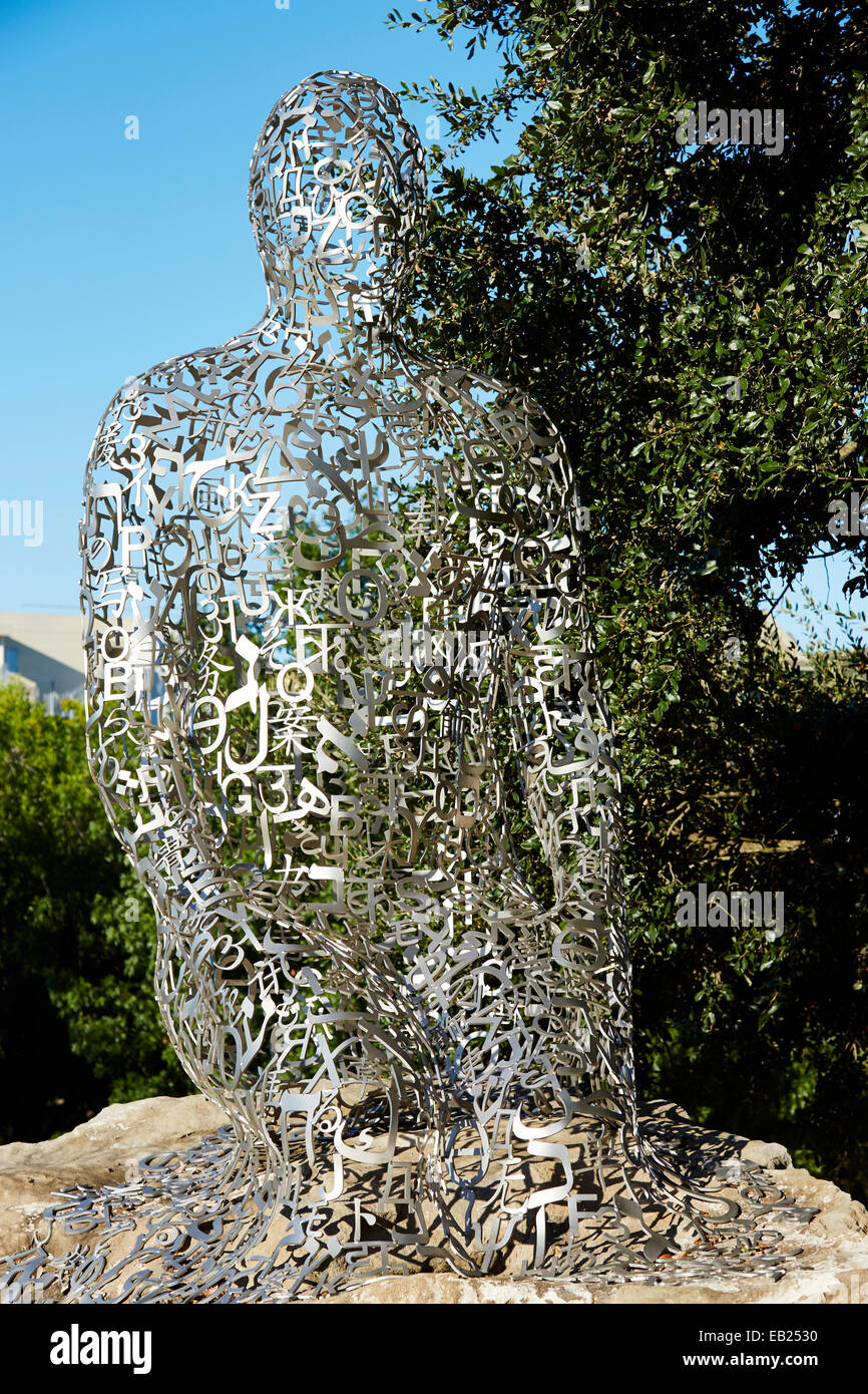 """1 of 7 sculpture that form 'Tolerance' aka """"Statues at Allen Parkway and Montrose"""" in Houston, Texas USA - Stock Image"""