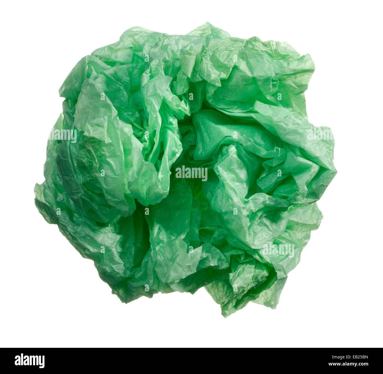 green paper wad - Stock Image