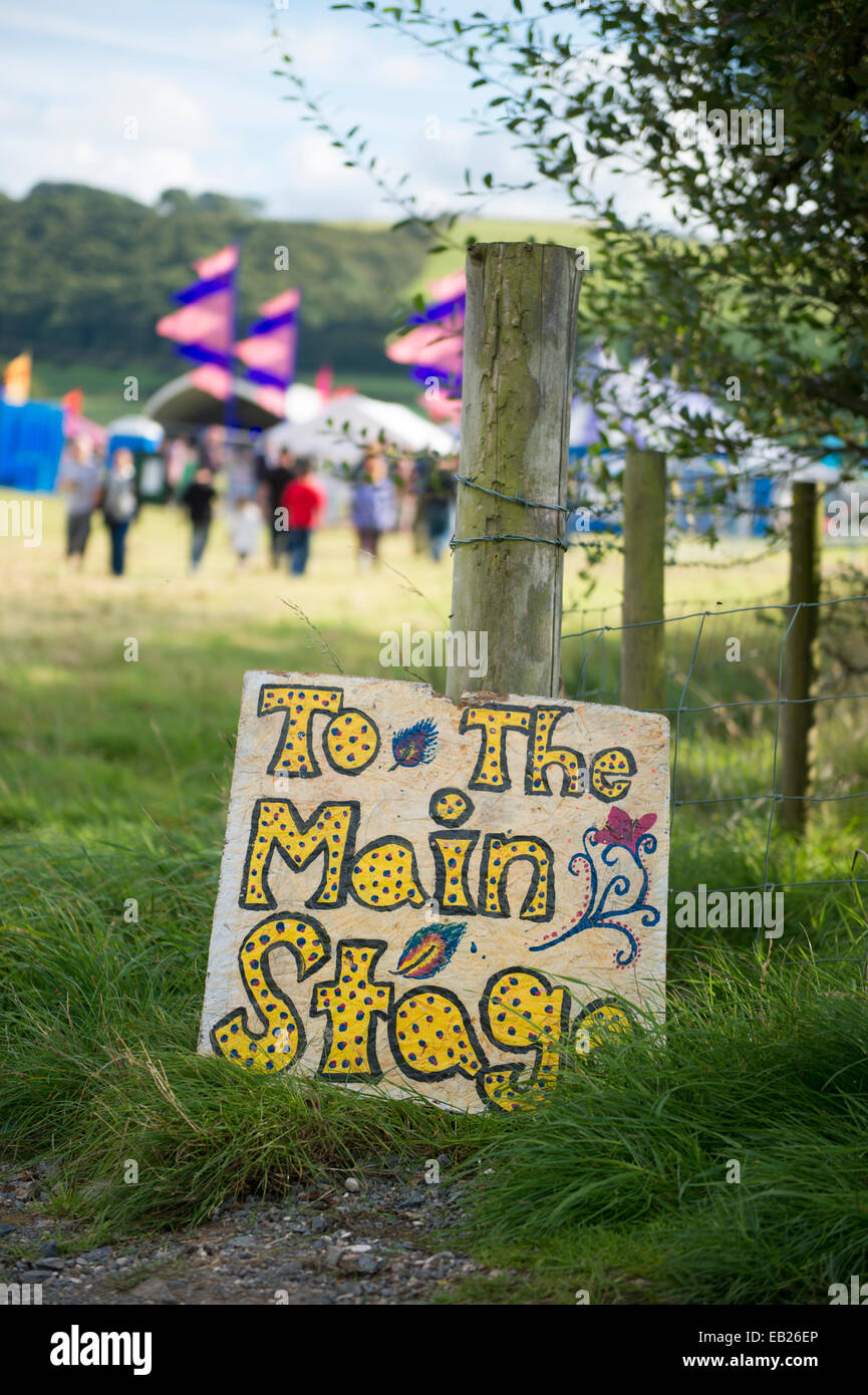 The Big Tribute music festival Aberystwyth UK August bank holiday 2014 - Stock Image