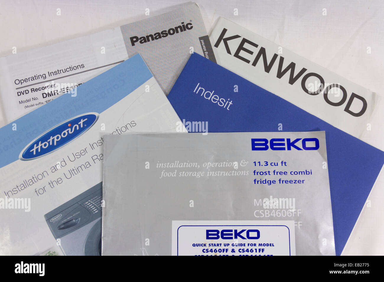 collection of electrical and kitchen appliance user manuals by beko rh alamy com neff appliance instruction manuals bosch appliance instruction manuals