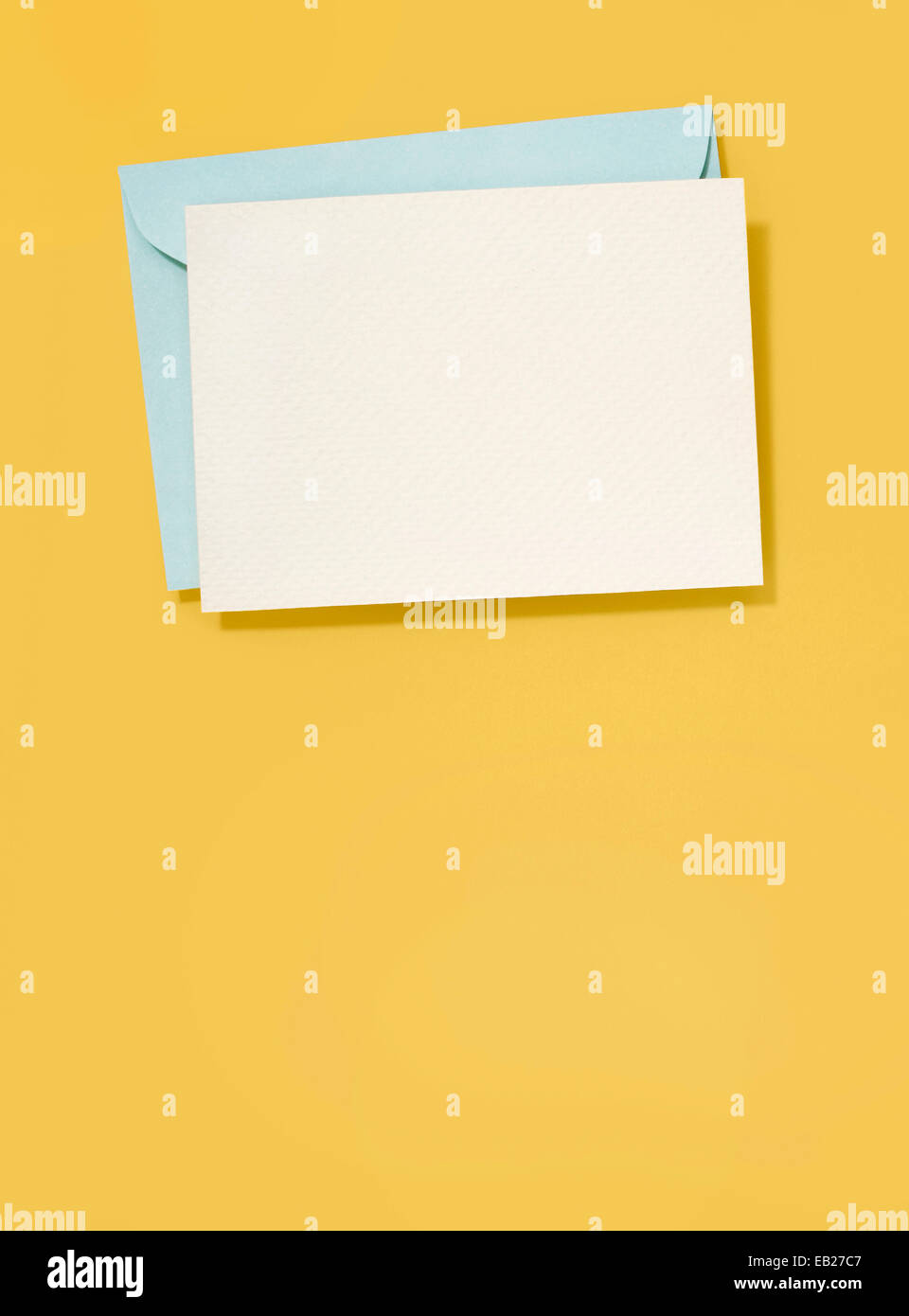Blank Greeting Card And Envelope Stock Photo 75652423 Alamy