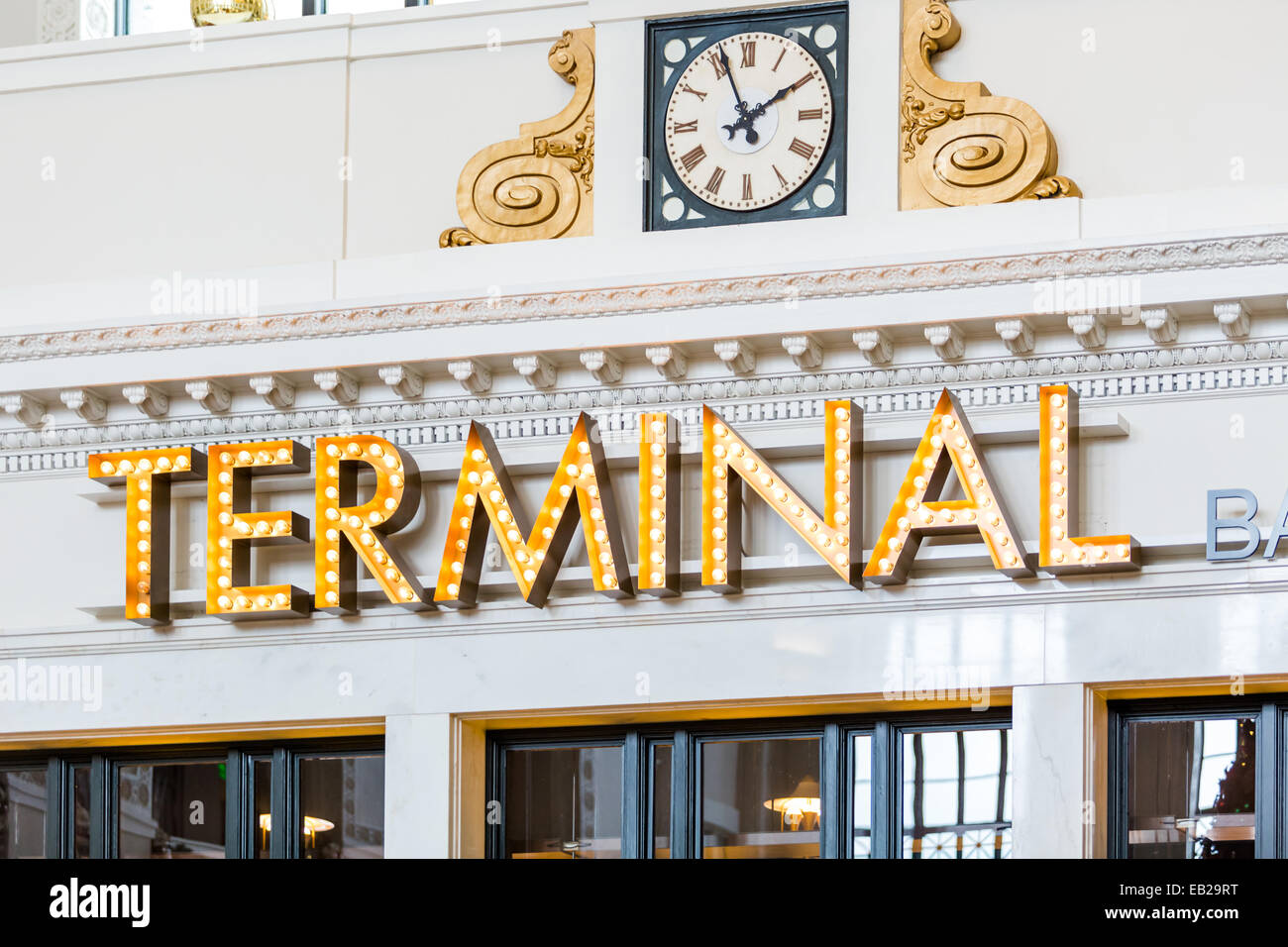 Remodeled historical Union Station in Denver, Colorado. Stock Photo
