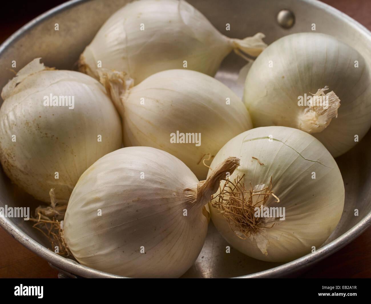 White onions - Stock Image