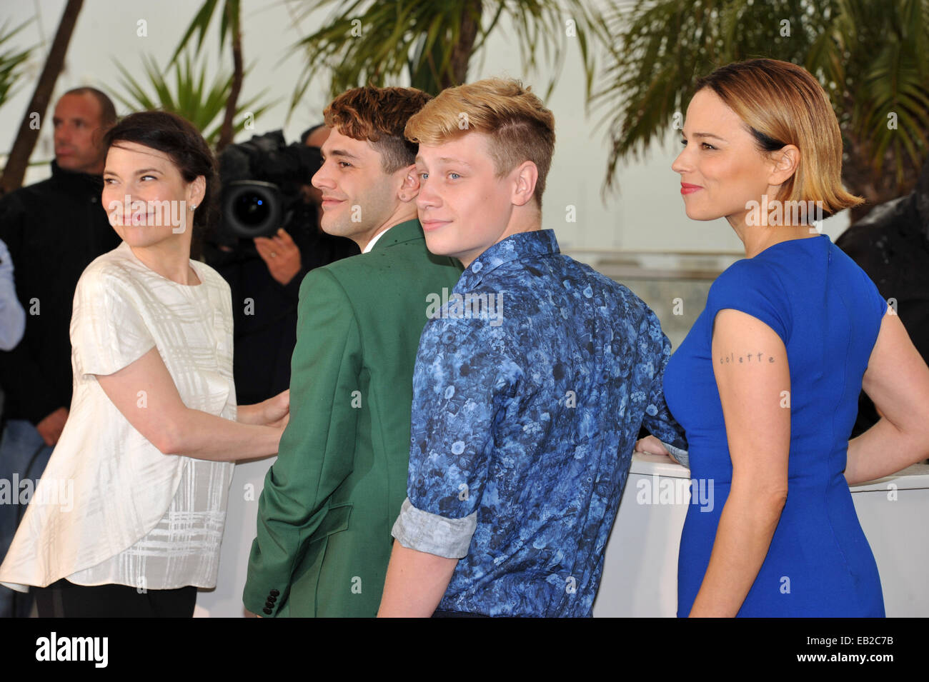 The 67th Annual Cannes Film Festival - Mommy - Photocall  Featuring: Suzanne Clement,Olivier Pilon,Xavier Dolan,Anne - Stock Image