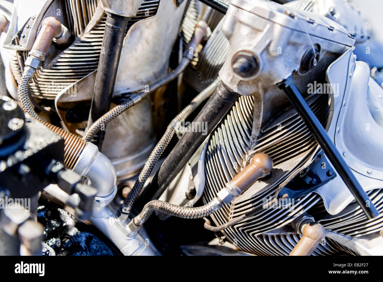 Classic BMW Aero Radial Engine - Stock Image
