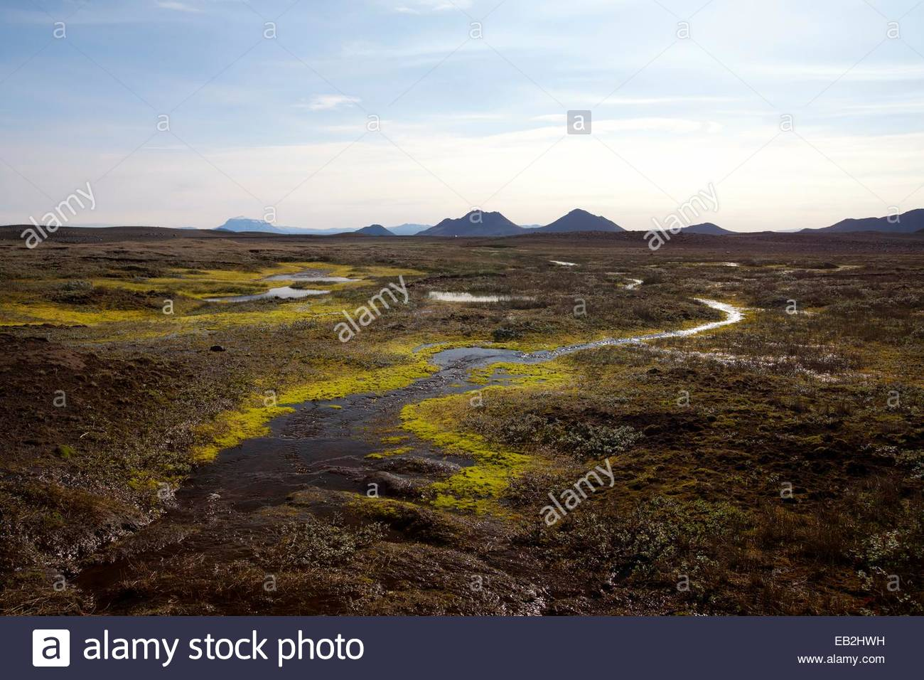 Otherworldly landscape in the Central Highlands. - Stock Image