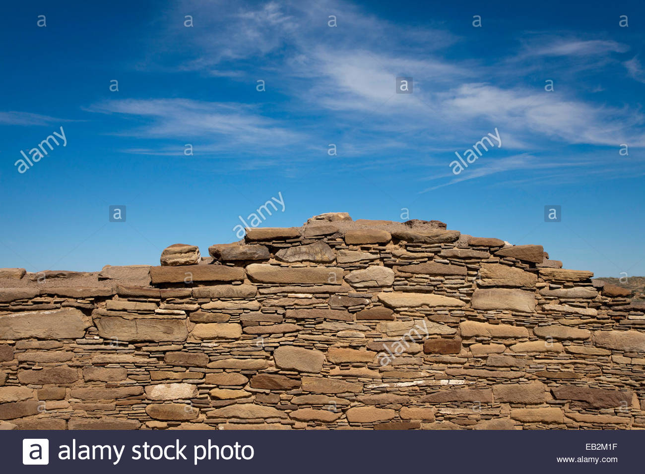 Pueblo Alto, a Chacoan Anasazi great house in Chaco Culture National Historical Park, New Mexico. - Stock Image