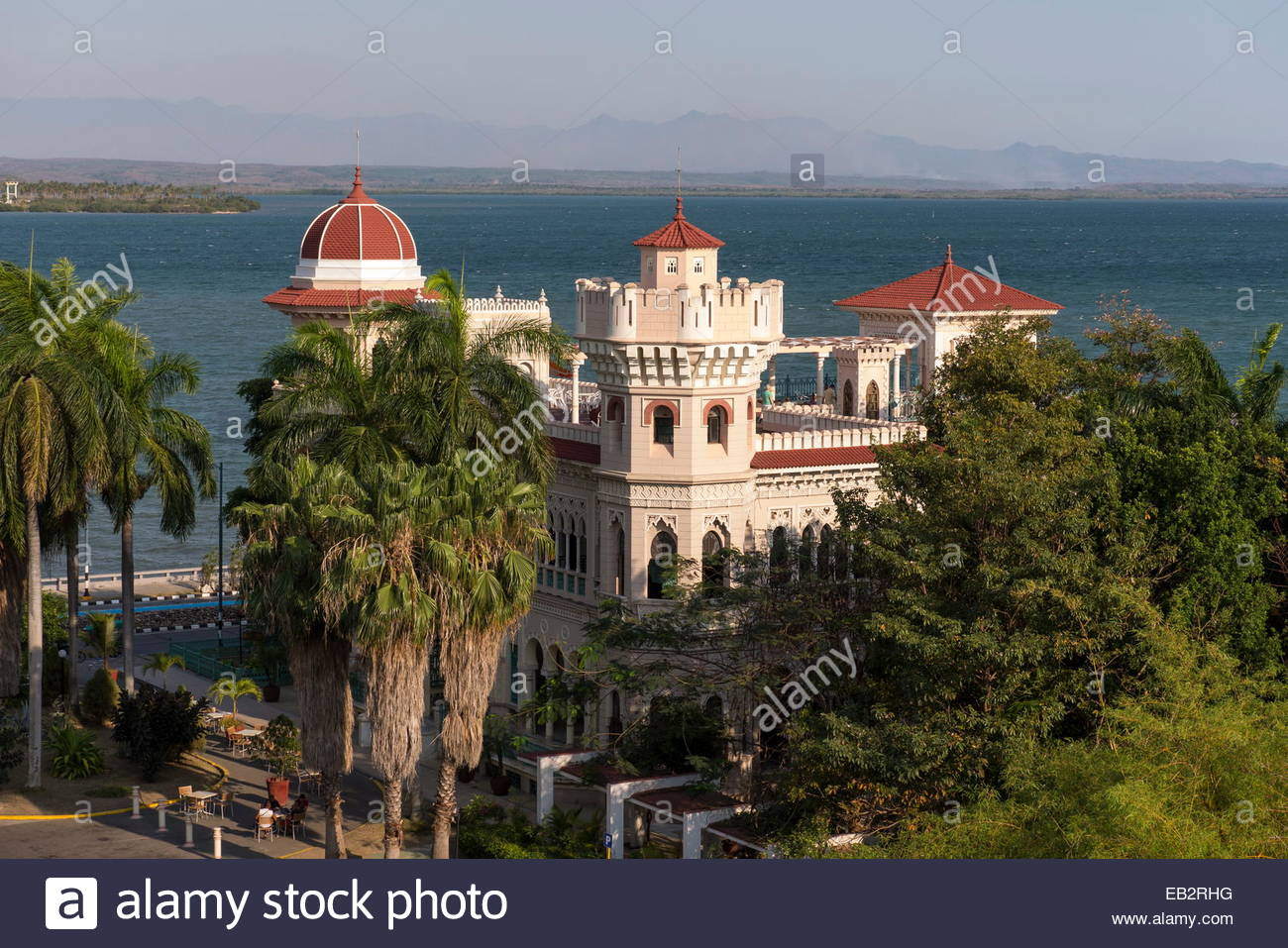 The Palacio del Valle an early 20th century mansion, which now houses restaurants and bars. - Stock Image