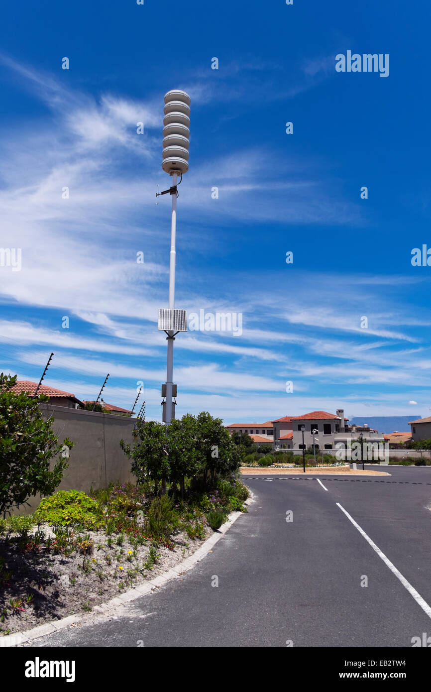 A radiation monitoring station in a Cape Town suburb - Stock Image
