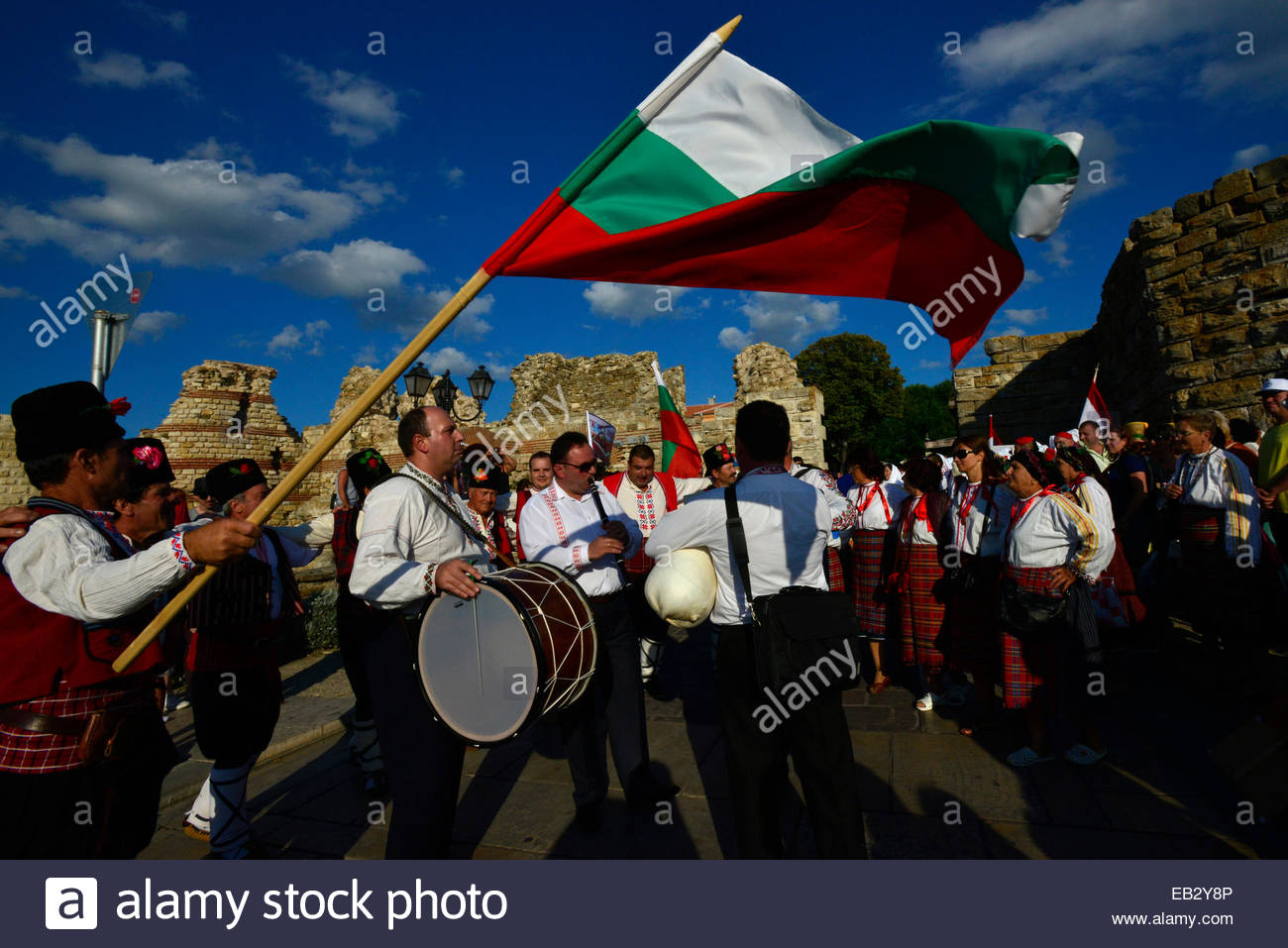 The Bulgarian delegation at the World Championship of Folklore. - Stock Image