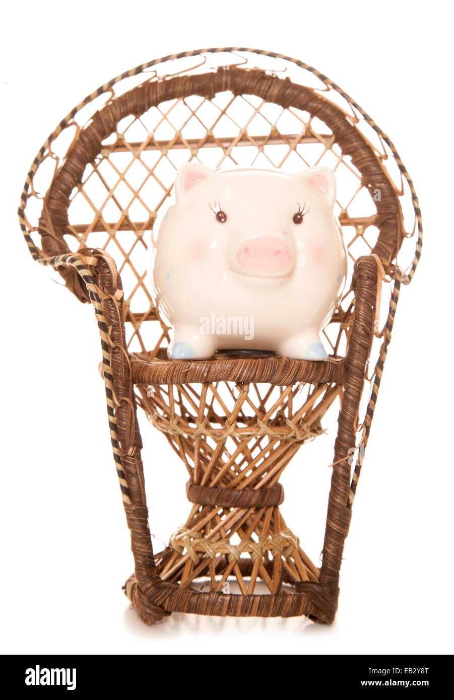 saving for your children piggybank cutout - Stock Image