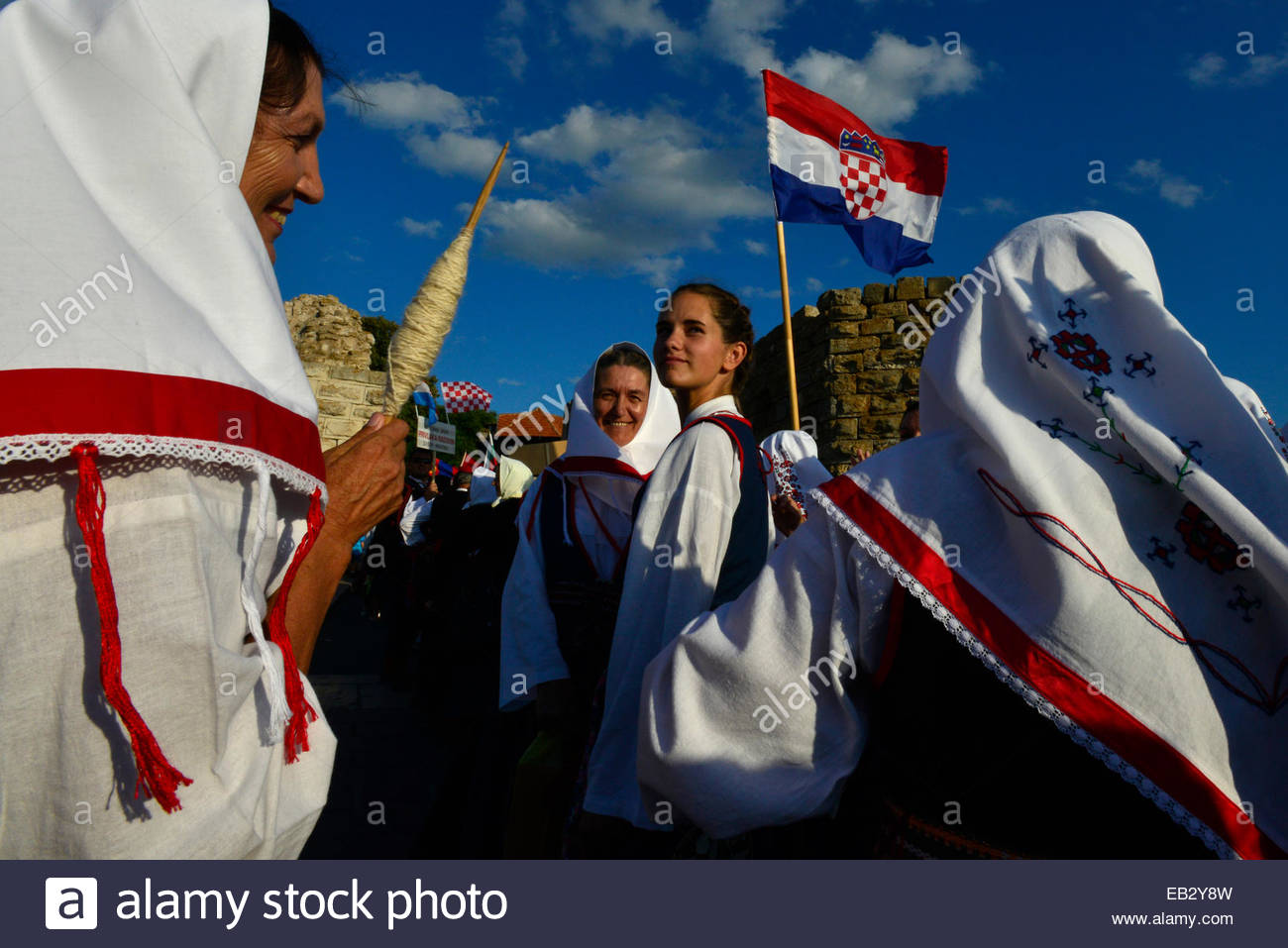 The Croatian delegation at the World Championship of Folklore. - Stock Image