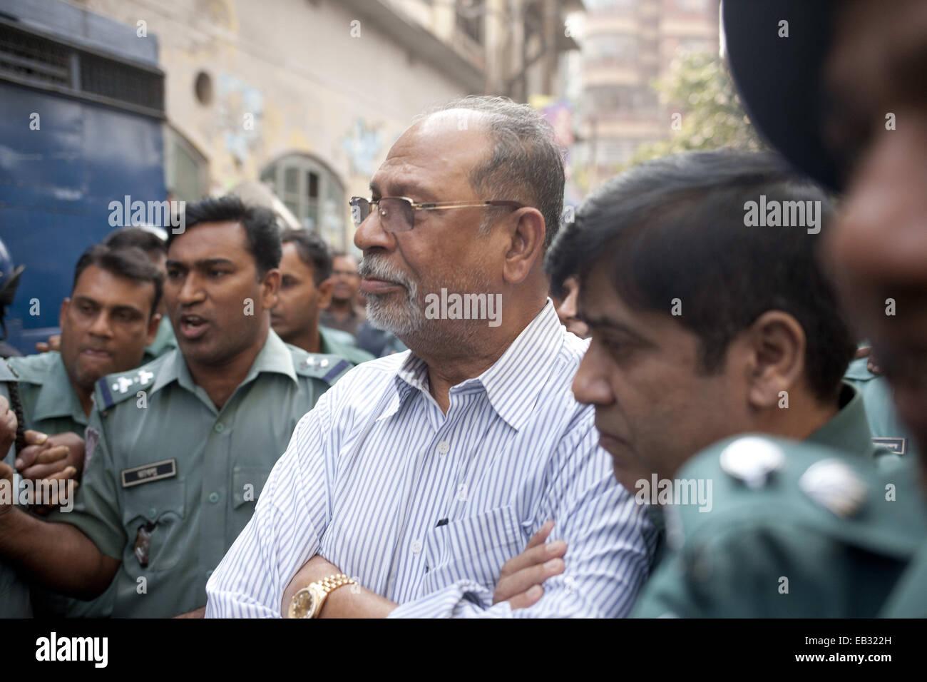 Dhaka, Bangladesh. 25th Nov, 2014. Abdul Latif Siddique, the former minister of Bangladesh Government accused of - Stock Image