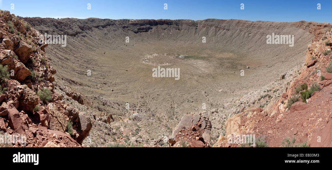 A view of Meteor Crater, Arizona. - Stock Image