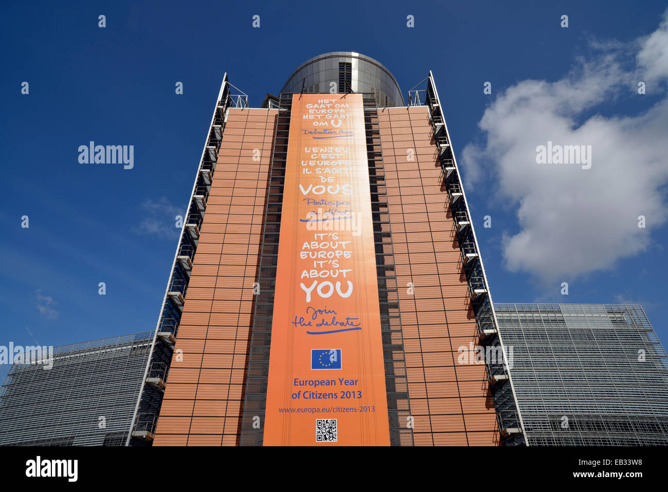 European Commission, Berlaymont building, Brussels, Brussels Region, Belgium - Stock Image