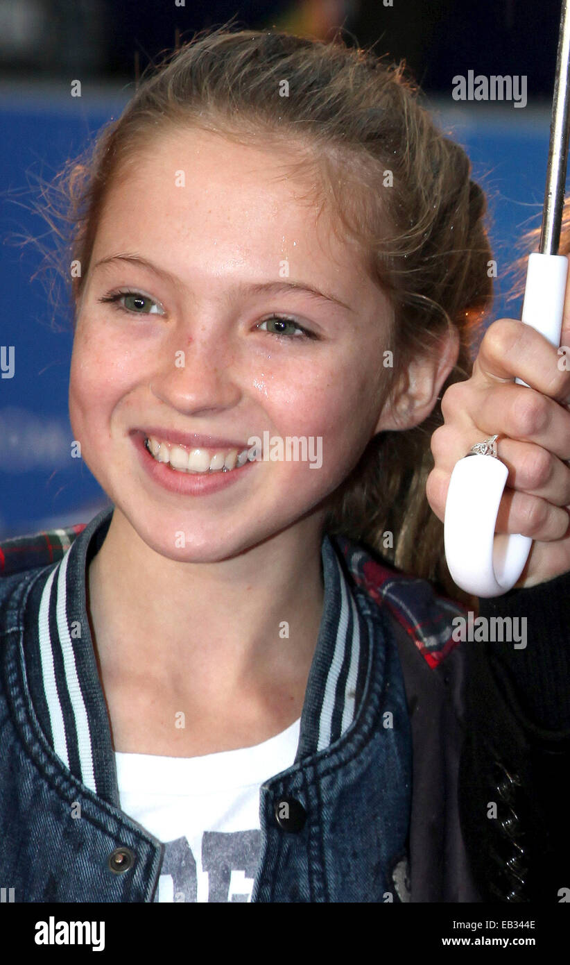 Lila Grace Moss arriving for the Paddington film premiere, at Odeon Leicester Square, London. 23/11/2014/picture - Stock Image