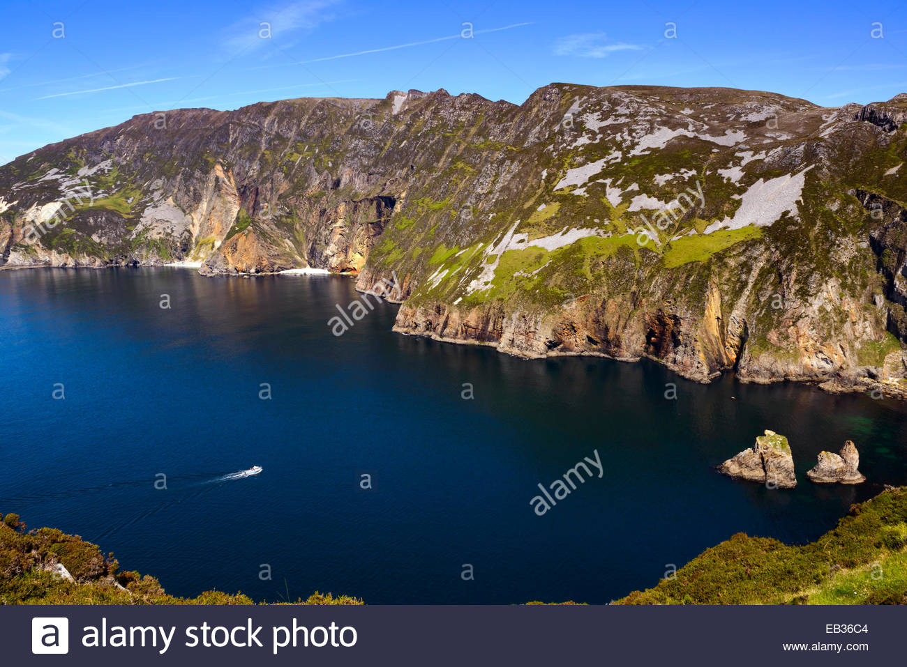 Slieve League sea cliffs in Donegal, west coast of Ireland. - Stock Image