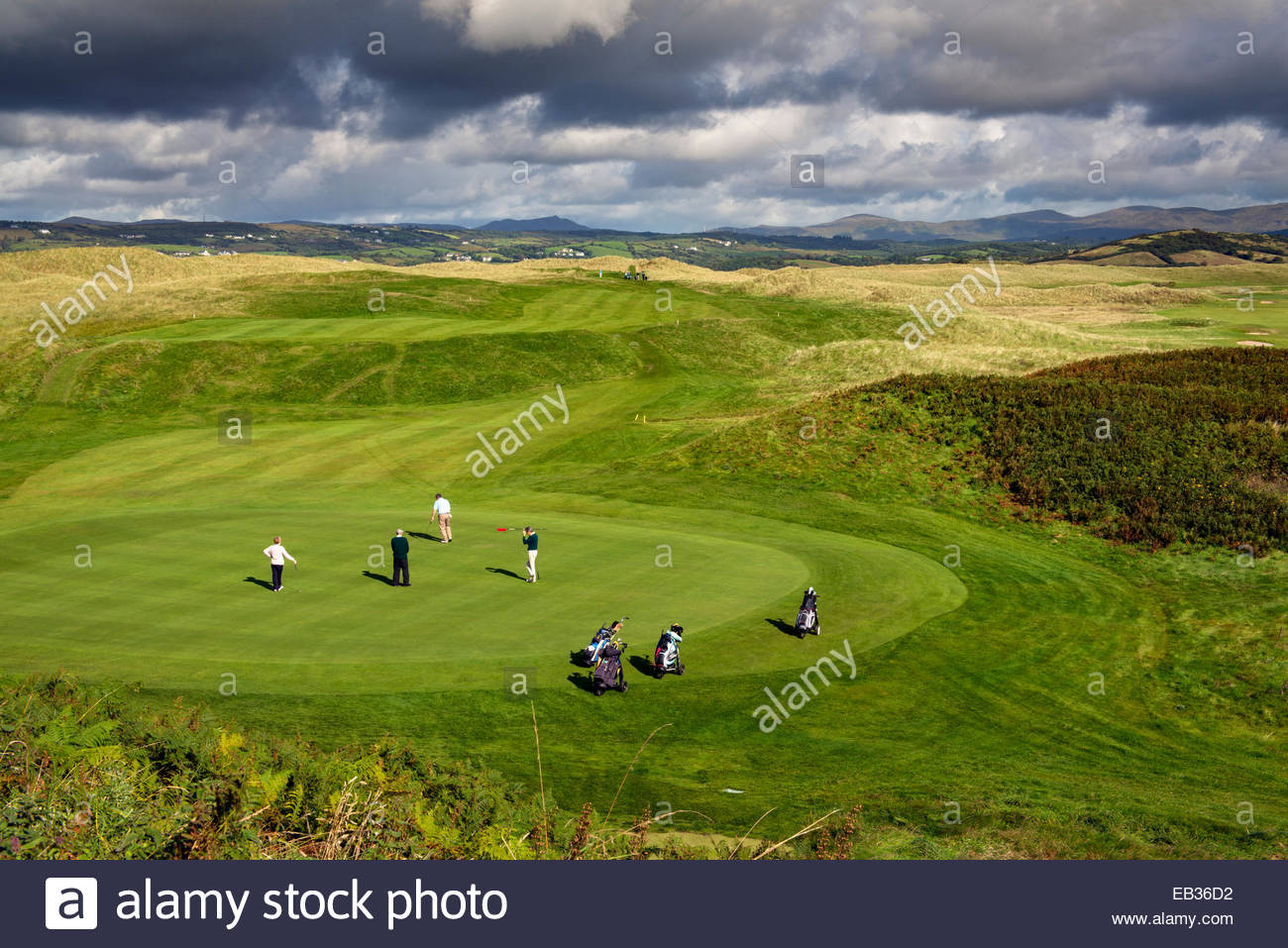 Donegal Championship Golf Club, Mervagh, Laghey, County Donegal, Ireland. - Stock Image