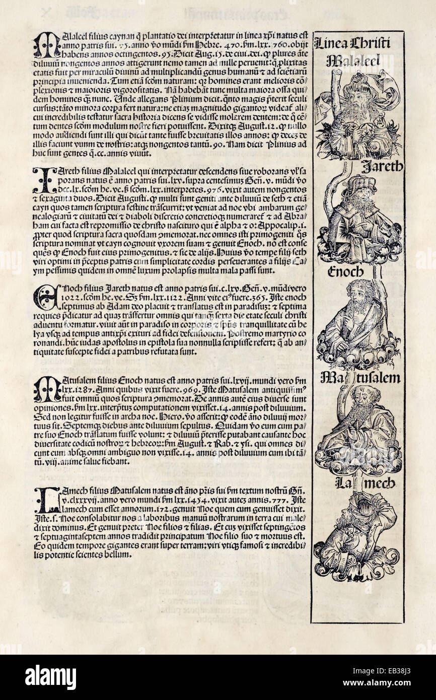 From 'Liber Chronicarum' by Hartmann Schedel (1440-1514). See description for more information. - Stock Image