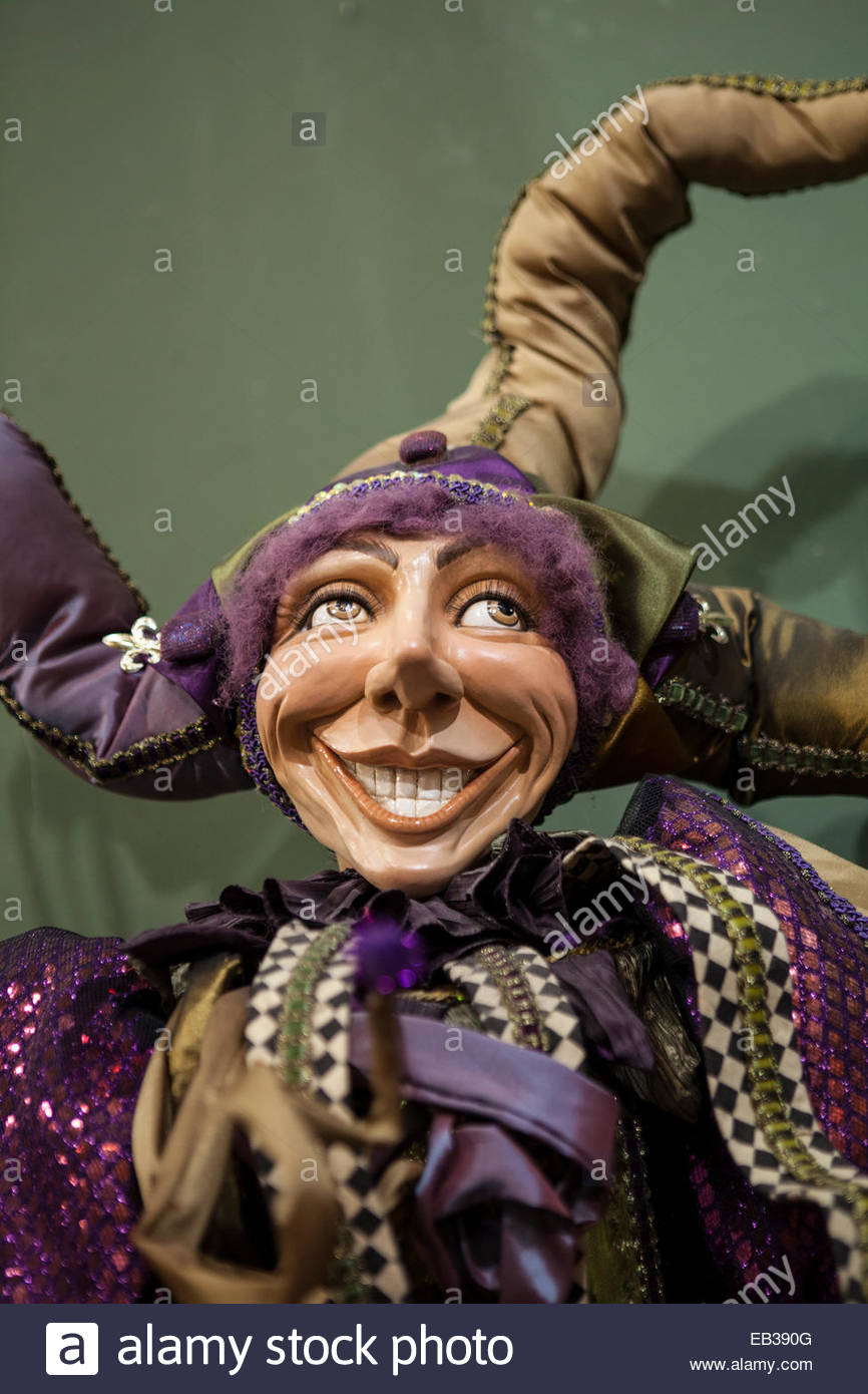 A Mardi Gras doll in the plantation gift shop at the Houmas House Plantation and Gardens. - Stock Image