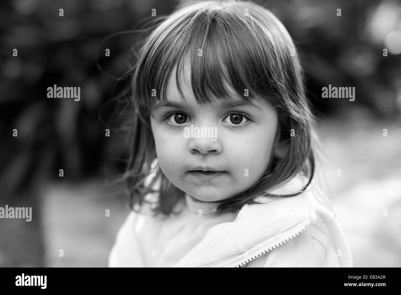 Argentina, Buenos Aires, Portrait of girl (2-3) looking at camera Stock Photo