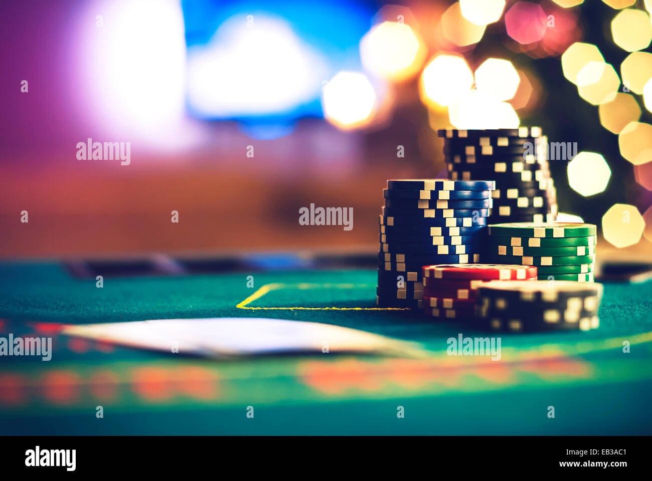 Christmas poker - Stock Image