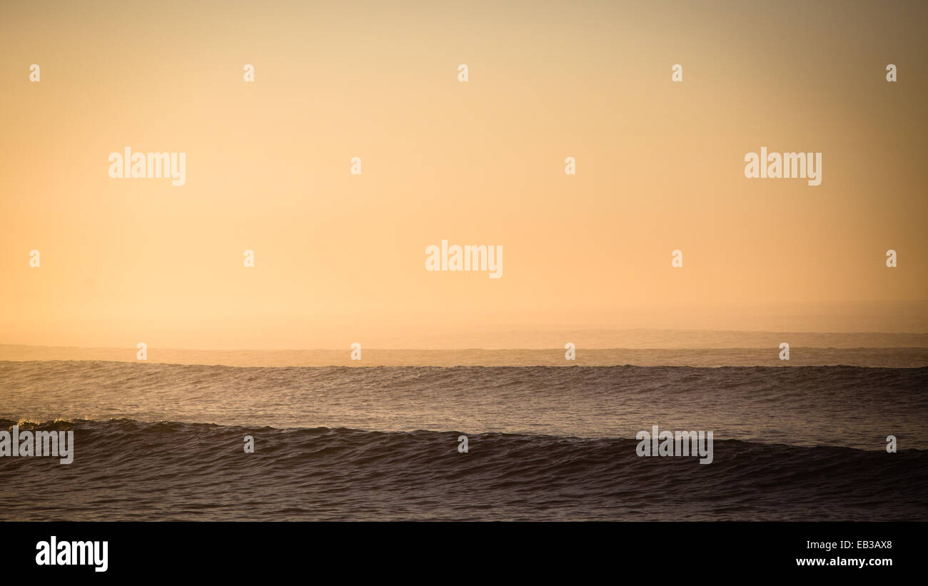 USA, California, Los Angeles County, Malibu, Seascape at sunset - Stock Image
