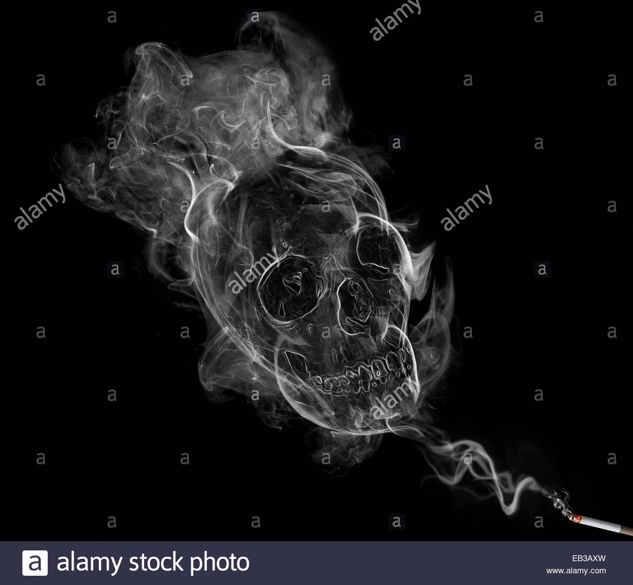 Poisoned smoke - Stock Image