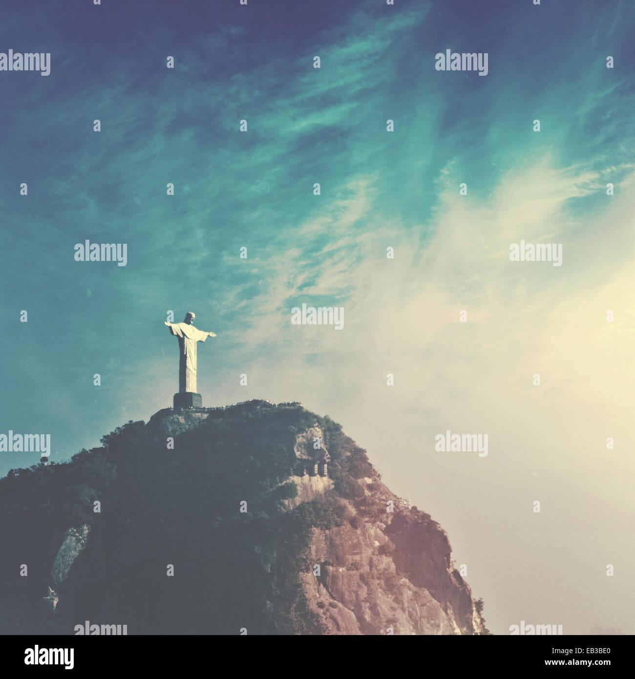 Brazil, Rio de Janeiro, Christ the Redeemer - Stock Image