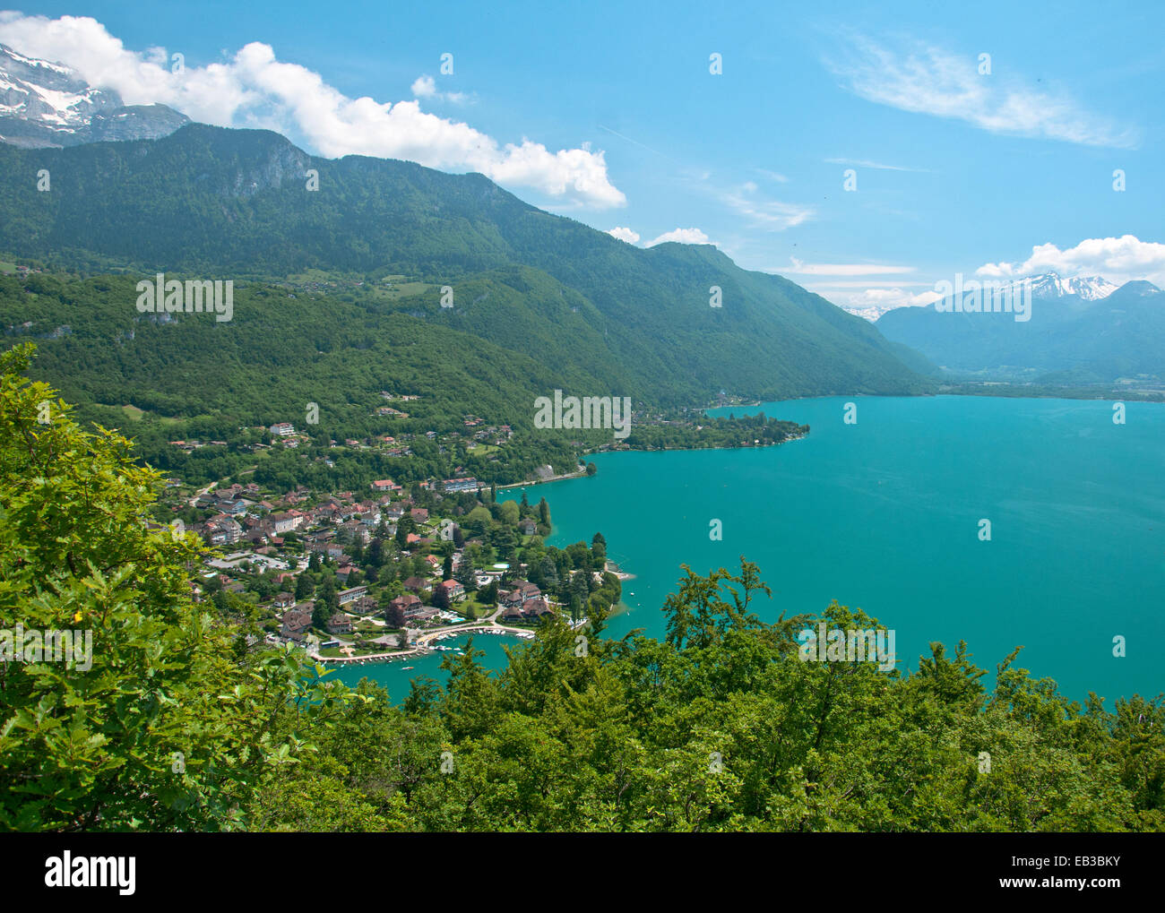 France, Annecy Lake, View of beautiful lake - Stock Image